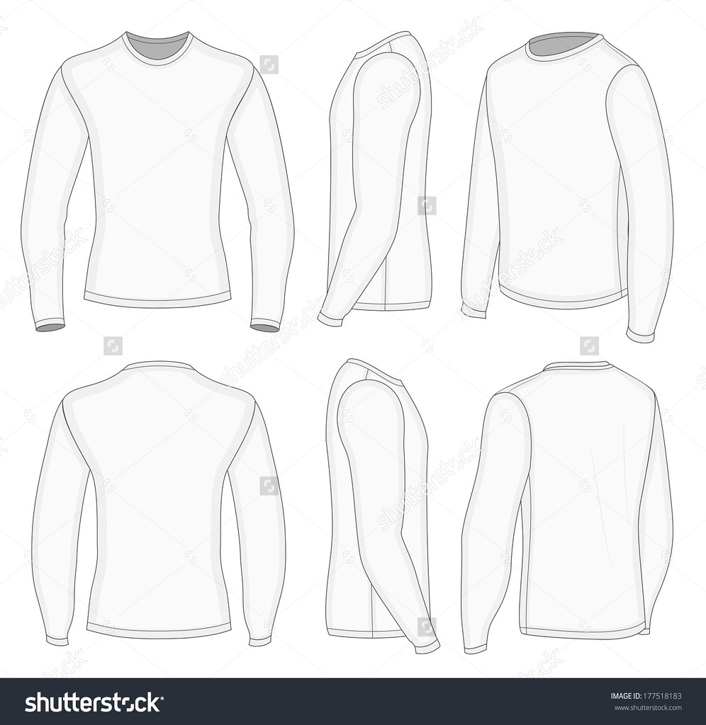 955de4f920e2 stock-vector-all-six-views-men-s-white-long-sleeve-t-shirt-design-templates -front-back-half-turned-and-side-177518183