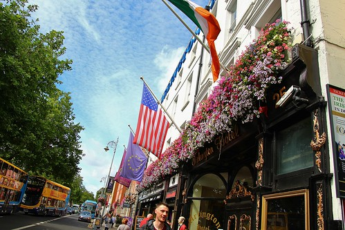 cruise2017norwayicelandireland europe ireland dublin outdoor cityview streetview blueskies flowers simplysuperb