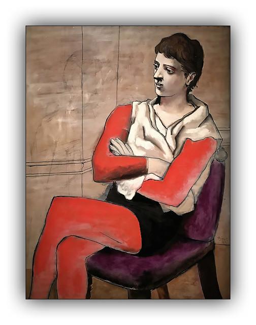 Saltimbanque aux bras croisés - 1923 (Picasso)