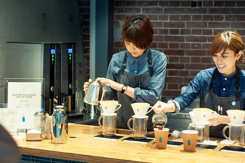 Blue Bottle, pop-up store in Kanda