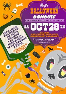 Halloween,Birgit&Bier,Party,Berlin,Night,DJ,Club,PilockaKrach,KollektivOst,SamShure,Mr.Schug,MichaelStach,NatalieCapello,JustinTinderdate,MartyMcFly_MoonWalks,Katerblau,Sisyphos,Berghain.Watergate,Nightclub,Feier,Bambule,28.10.,Oktober,October | by Bambule BLN