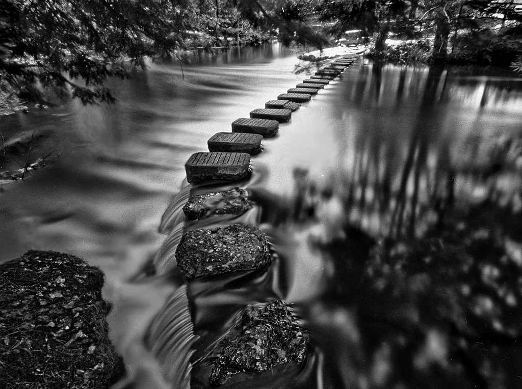 A Mindful Walk in the Present Moment-Stepping Stones, Middle Branch, Ontonagon River