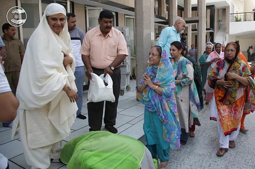 Devotees seeking blessings at Delhi