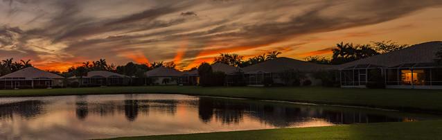 Fiery Sunset at Majestic Isle, Boyton Beach Florida