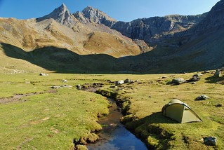 Our last, and highest, wildcamp - at 1850m near the Ibons d'Anayet | by Pikes On Bikes