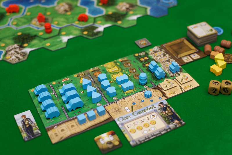 Best Farming Board Games Clans of Caledonia player board