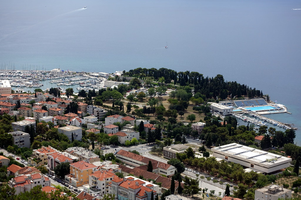 View from the top of Marjan hill, Split, Croatia