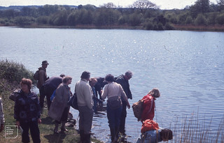 Hensol Lake. Extramurals with Roy Perry on castle side. May 1977