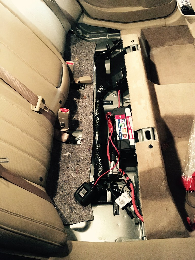 Crazy car battery location: under the back seat in my car.…   Flickr
