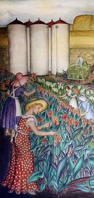 """California, Harvesting Flowers""  Coit Tower, 1934"