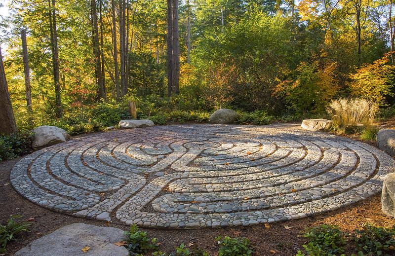Stone Mosaic Labyrinth entrance
