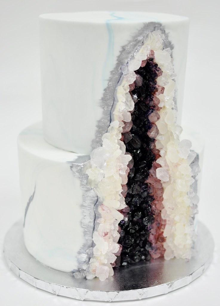 Geode Wedding Cake.Geode Wedding Cake Jenny Wenny Flickr