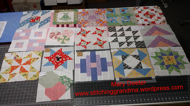 Sixteen blocks completed