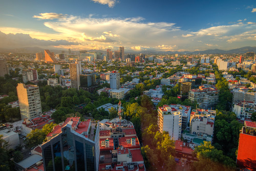 mexico city mx mex sunset cityscape skyline clouds hdr landscape downtown mountain blue skies