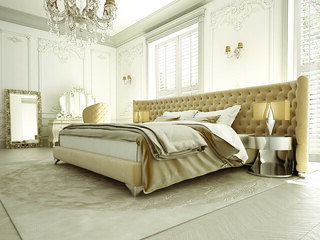 fancy cream bedroom | by CoolShutters
