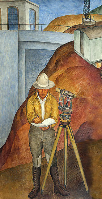 """""""The Surveyor, part of Machine Force"""" Coit Tower, 1934"""