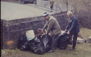 Refuse collected from Glais GNT reserve by Geoff Morris and boys 1976