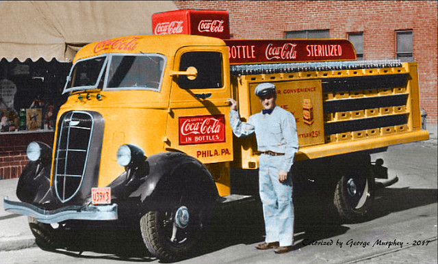 Studebaker Coke Colorized