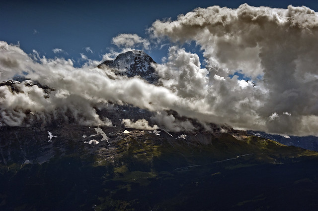 The  Eiger north face . Canton of Bern , Switzerland. no. 8642. .