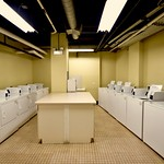 Work some fun into laundry time with a workout in the fitness center next door while your laundry launders.
