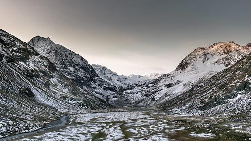 hiking mountaineering ambergerhuette sunrise winter