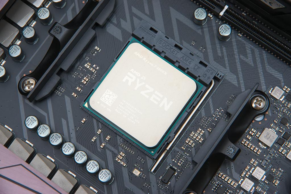 Astaroth: The Processor | In the socket is an AMD Ryzen 7 18