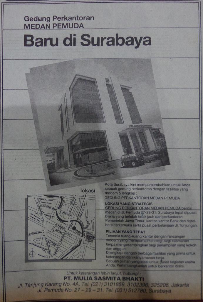 Gedung Medan Pemuda Surabaya - Kompas, 24 Desember 1988