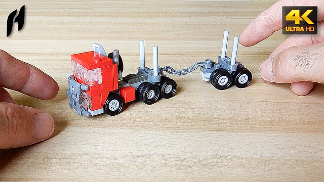 How to Build the Lego Timber Transport Truck with Trailer (MOC - 4K)