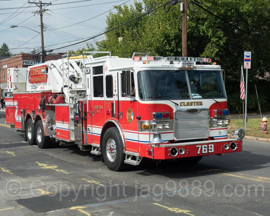 Closter NJ Tower Ladder Fire Truck, 2017 Northern Valley Fire Chiefs