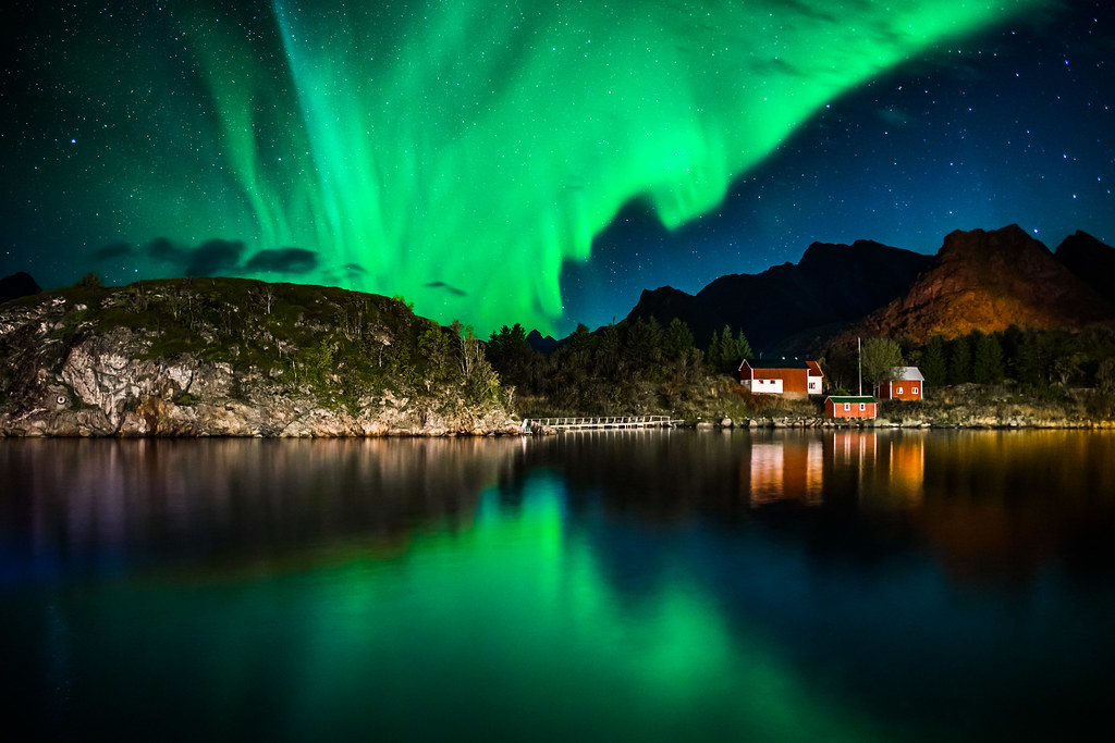 Natures Fireworks - Aurora Borealis - Lofoten Islands, Norway