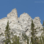 Rock formations along South Fork Cascade Canyon