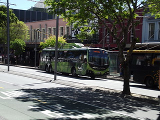 Lyall Bay bound bus at Coutenay Place, Wellington (2017)