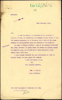 Godwit shooting season enquiry (1912)