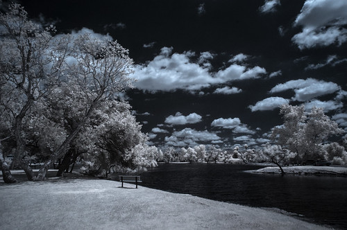 infrared infraredphotography channelswapping santeelakes sky clouds water convertedinfraredcamera nature naturalbeauty surreal highcontrast composition