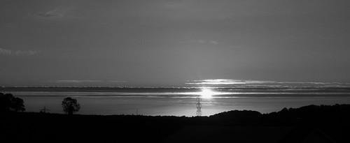 sunset clouds lumix kent horizon pylon panasonic electricity fz100 prattsbottom