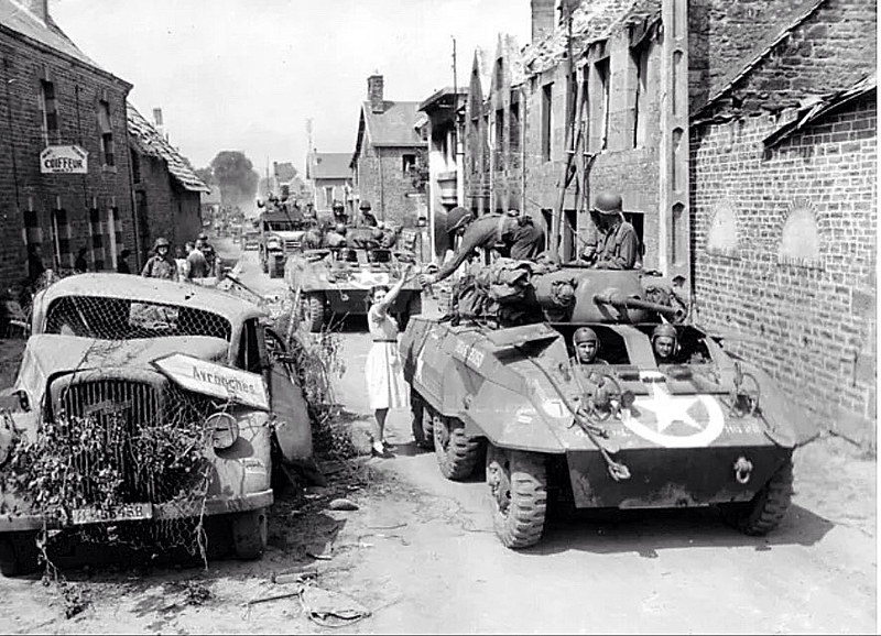 M8 armoured car near Avranches Summer 1944