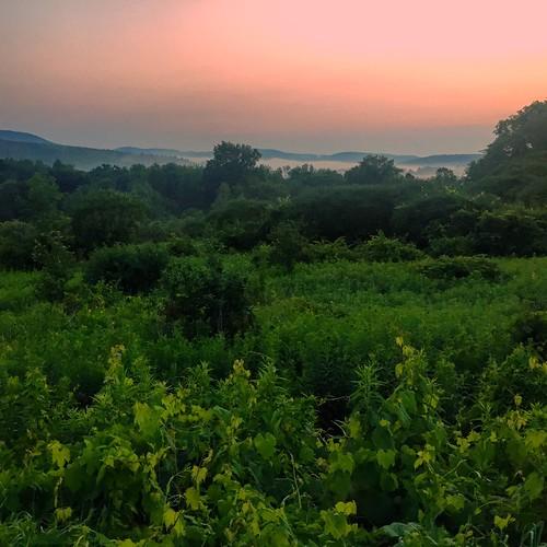 sunset fog vermont july4th bennington