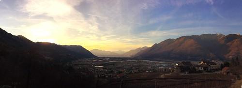 camorino ticino tessin suisse schweiz swiss switzerland piano di magadino sunset cloud sky building inlovewithswitzerland visitticino