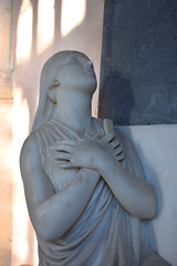 Faith on the memorial to Mary Andalusia, Baroness Rendlesham
