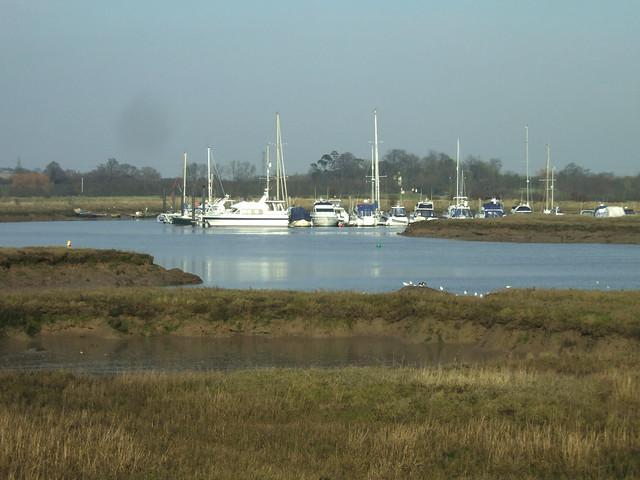 Fambridge Yacht Haven across Stow Creek