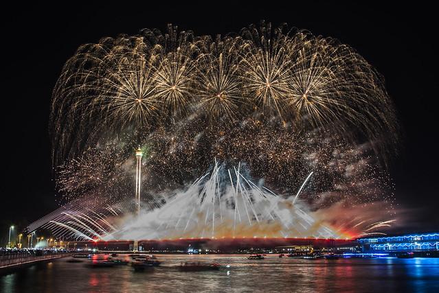 Fireworks Lighting The Sky.