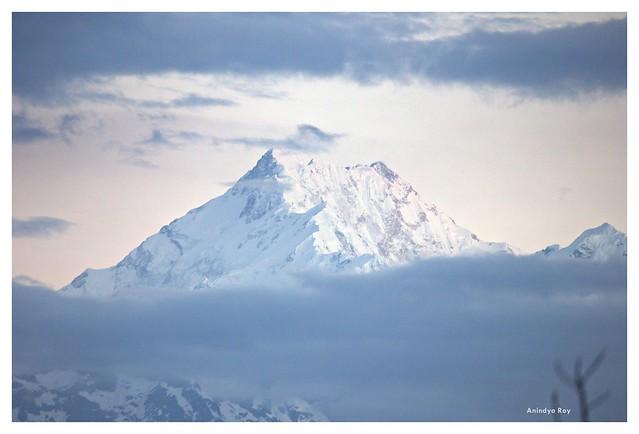 Mount Kangchenjunga just before sunrise
