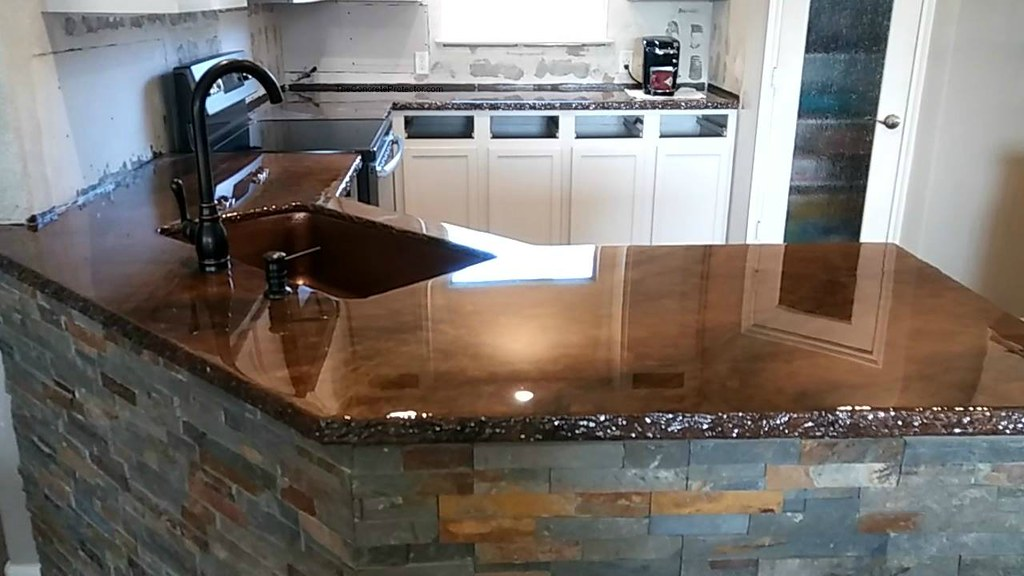 Metallic Marble Epoxy Countertop Artisan Concrete Surfa
