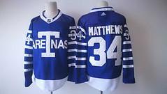 Men's Toronto Maple Leafs #34 Auston Matthews Royal Blue Arenas 2017-2018 Hockey Stitched NHL Jersey