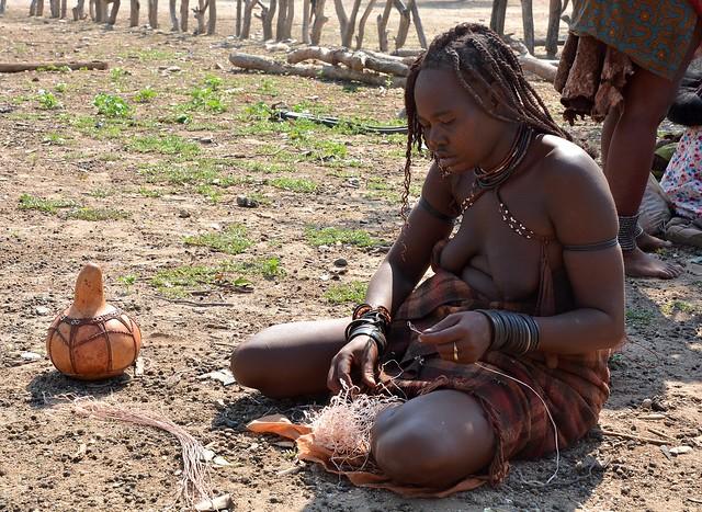 Himba Village girl -  Kunene Region of Namibia.