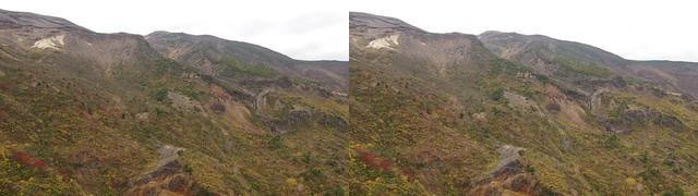 Mount Zao, 4K UHD, stereo cross view