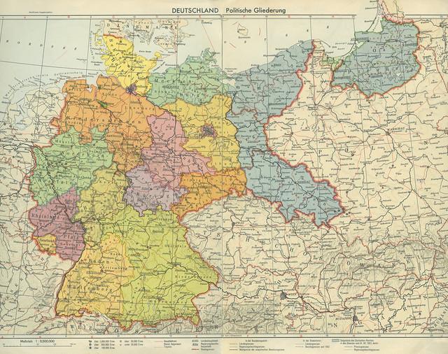 Archiv NN711 Ostgebiete des Deutschen Reiches, historische Grenzen von 1937