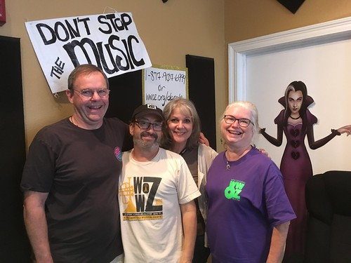 Mike Thompson, Rockin' Ron Phillips, Sally Young, and Diana Thompson after their Saturday morning Fall Membership Drive shift - 10.21.17