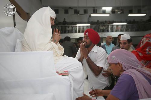 Devotees seeking blessings at Ludhiana