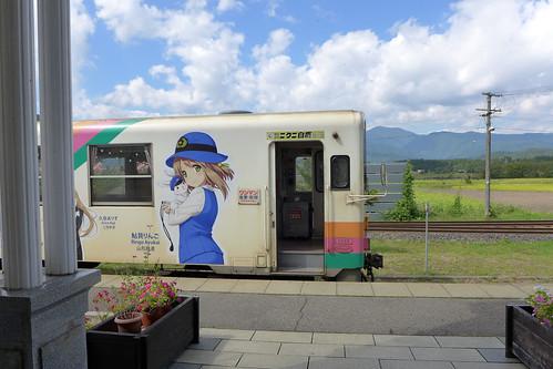 鉄道むすめラッピング車両 荒砥駅で撮影